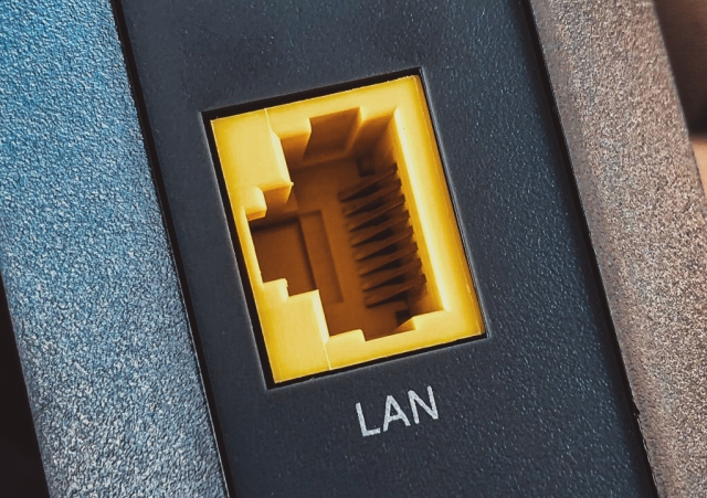 File:LAN Port - Ethernet Jack on Cable Modem (Networking Equipment) (29162483347).jpg ---- https://commons.wikimedia.org/wiki/File:LAN_Port_-_Ethernet_Jack_on_Cable_Modem_(Networking_Equipment)_(29162483347).jpg ---- By: Tony Webster ---- License: cc-by-2.0.