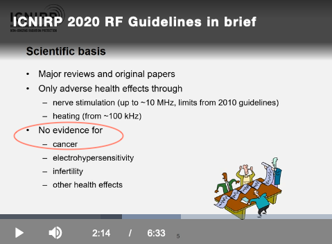 ICNIRP.No Evidence.2020